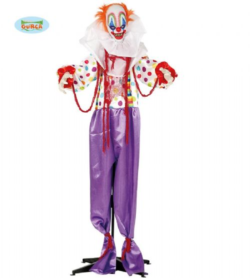 Terror Clown Halloween Party Decoration with Movement, Lights & Sound FX Prop